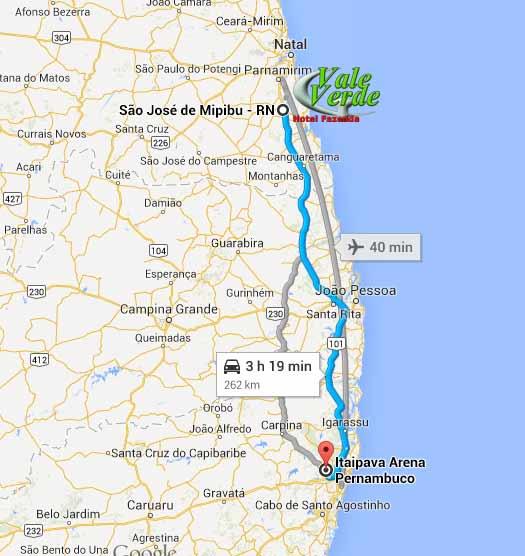 Fácil acesso até a BR-101, destino Recife.